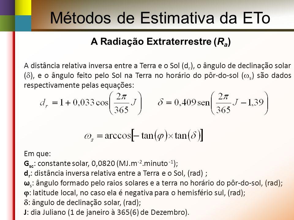 A Radiação Extraterrestre (Ra)