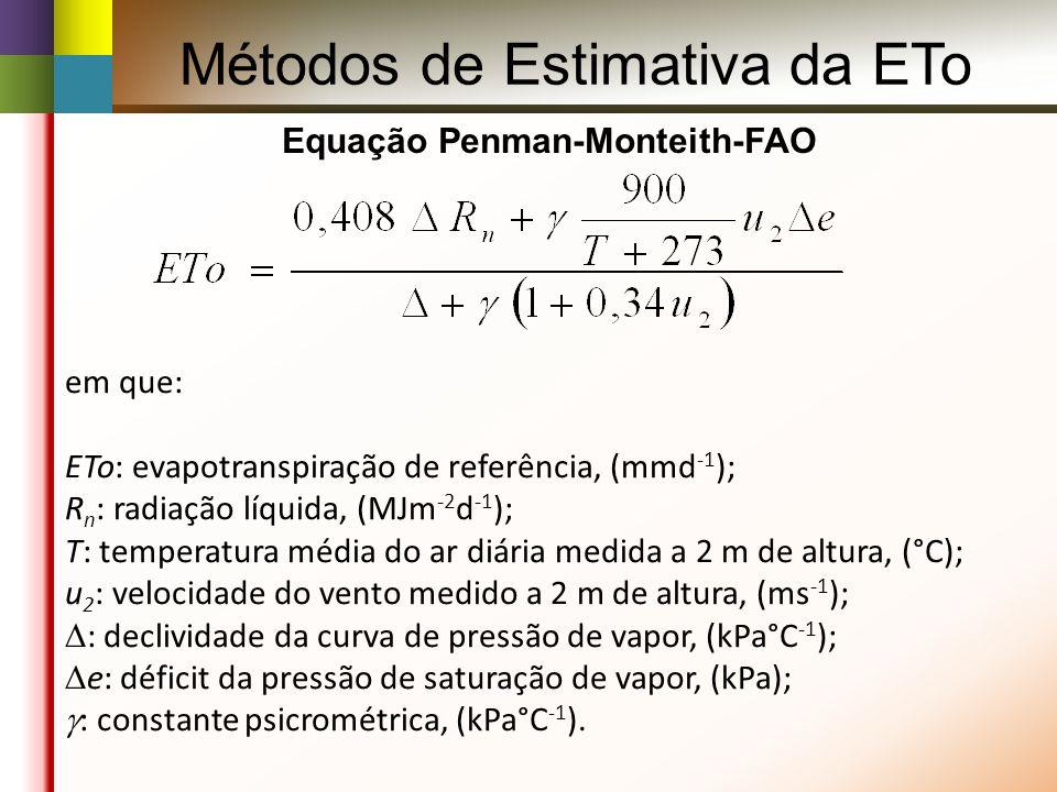 Equação Penman-Monteith-FAO