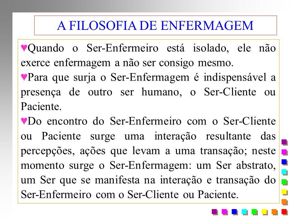 A FILOSOFIA DE ENFERMAGEM