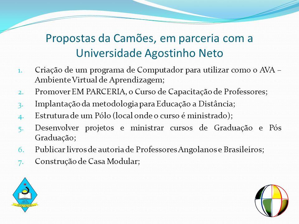 Propostas da Camões, em parceria com a Universidade Agostinho Neto