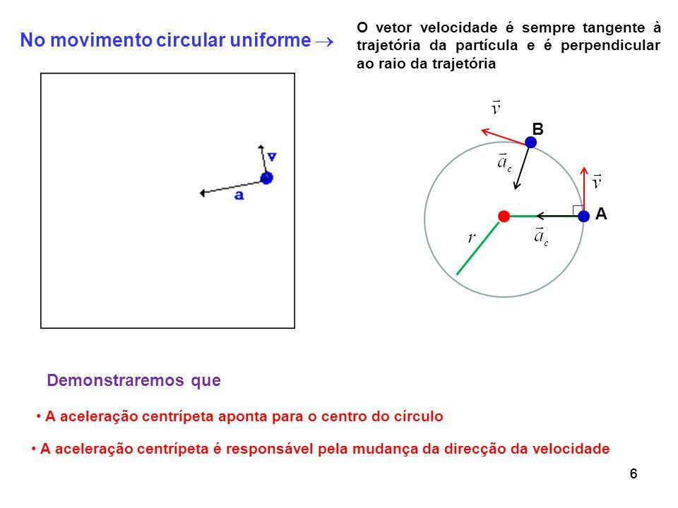 No movimento circular uniforme 