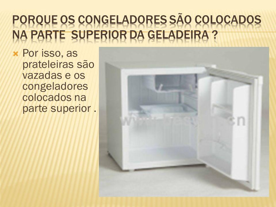 Porque os congeladores são colocados na parte superior da geladeira