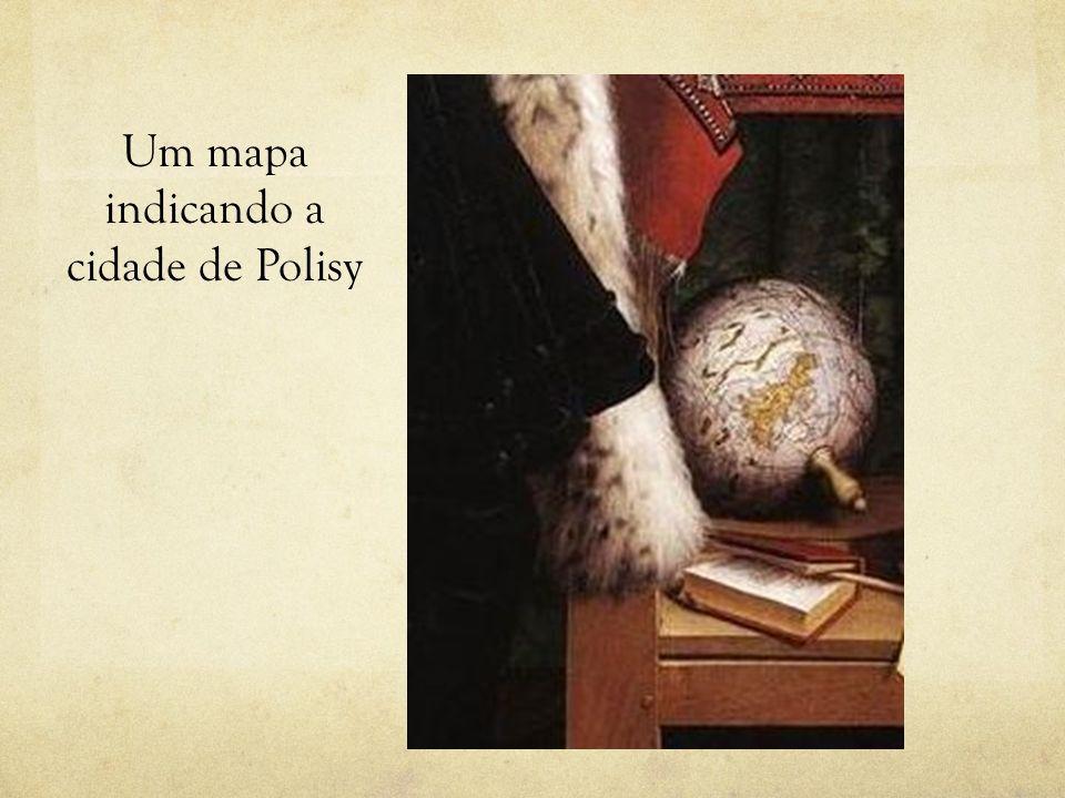 Um mapa indicando a cidade de Polisy