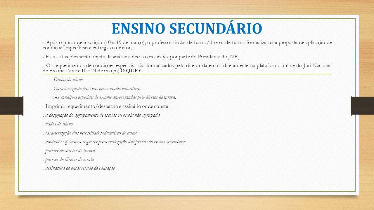 ENSINO SECUNDÁRIO