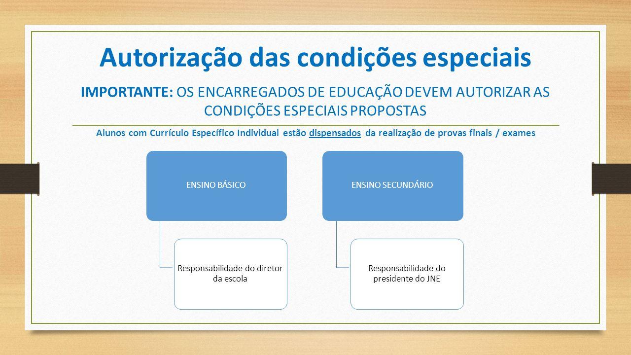 Autorização das condições especiais