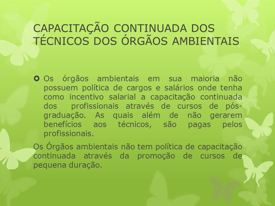 CAPACITAÇÃO CONTINUADA DOS TÉCNICOS DOS ÓRGÃOS AMBIENTAIS