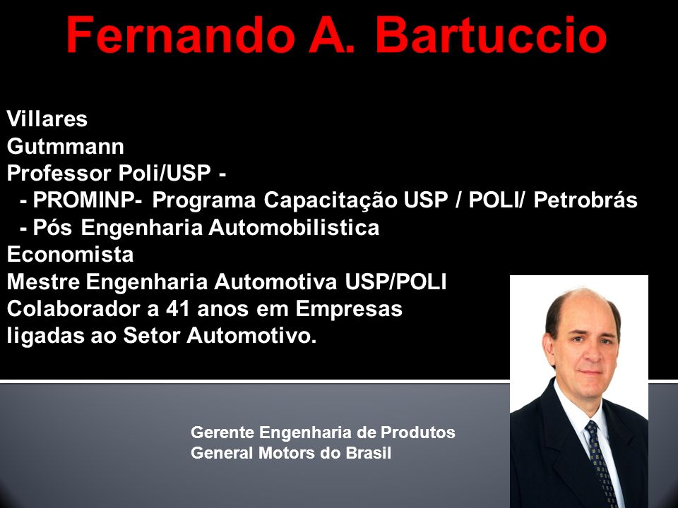 Fernando A. Bartuccio Villares Gutmmann Professor Poli/USP -