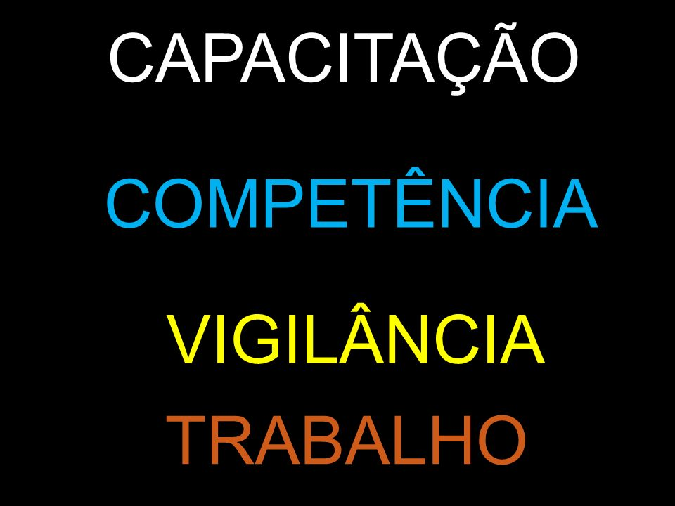 CAPACITAÇÃO COMPETÊNCIA VIGILÂNCIA TRABALHO