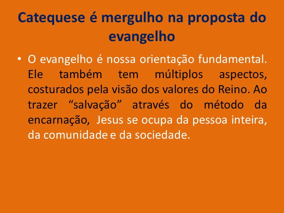 Catequese é mergulho na proposta do evangelho
