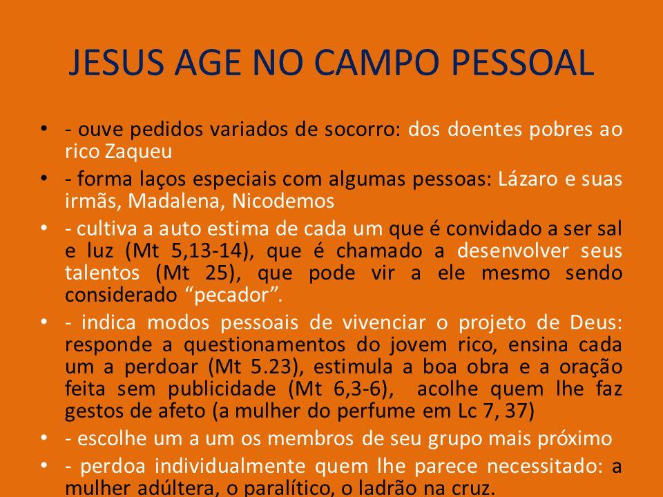 JESUS AGE NO CAMPO PESSOAL