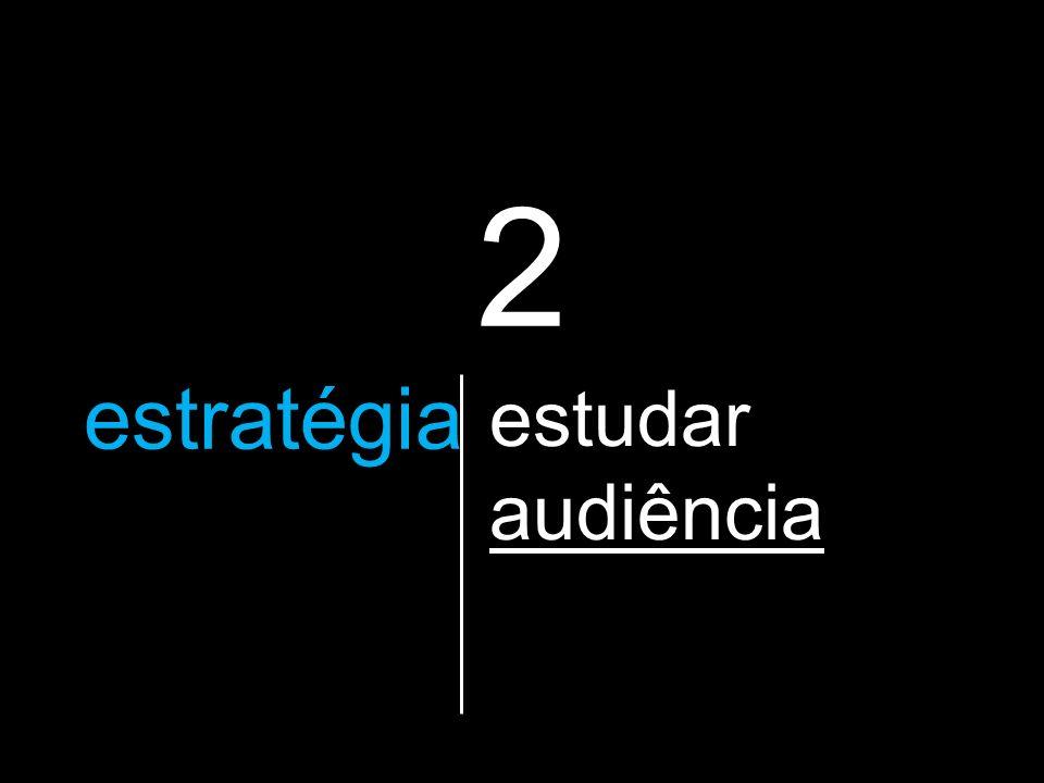 2 a estratégia que vão utilizar estudar audiência