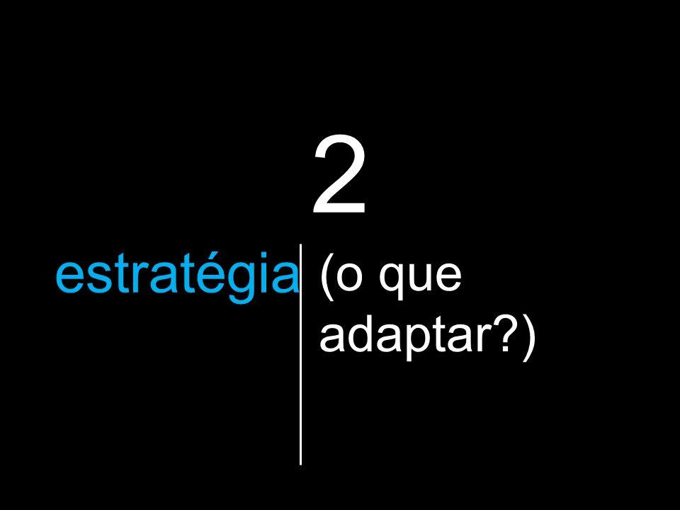 2 a estratégia que vão utilizar (o que adaptar )