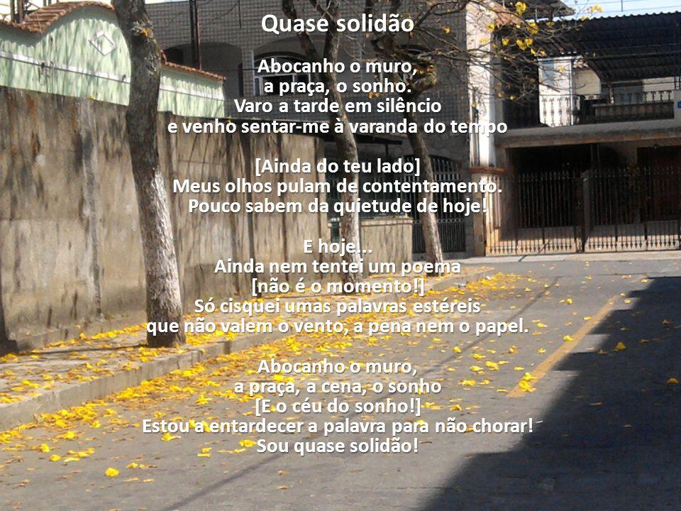 Quase solidão Abocanho o muro, a praça, o sonho