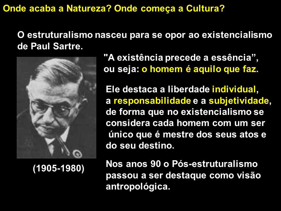 Onde acaba a Natureza Onde começa a Cultura