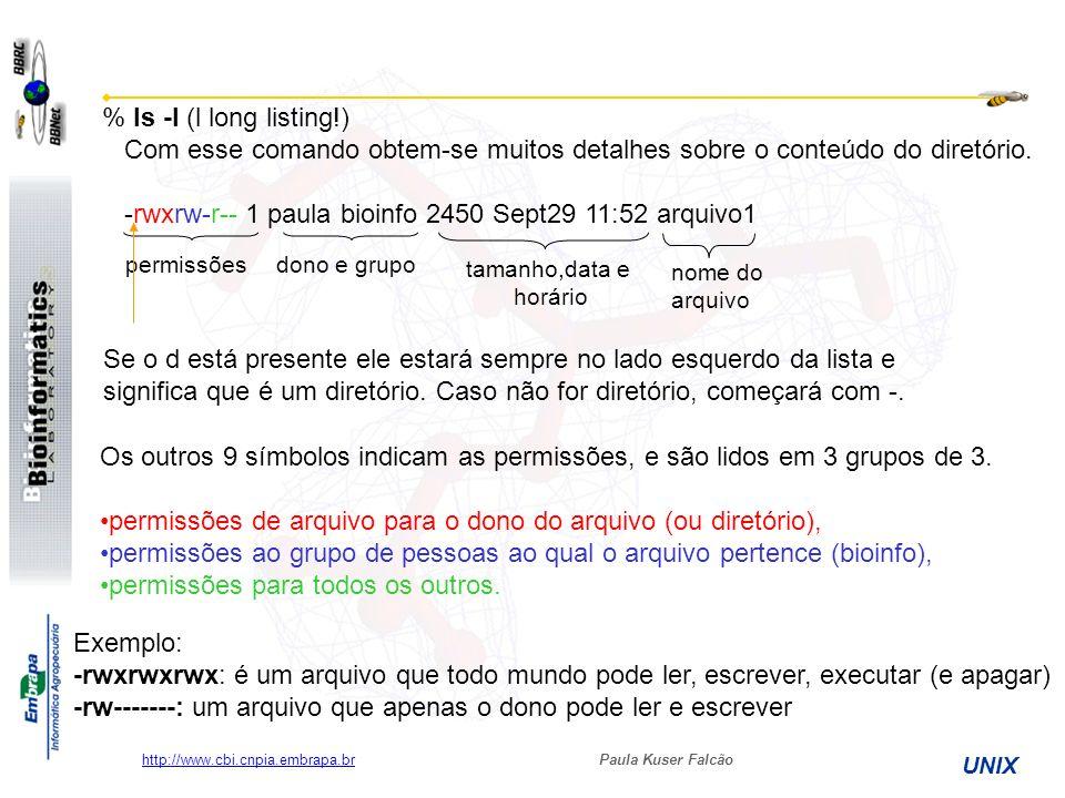 -rwxrw-r-- 1 paula bioinfo 2450 Sept29 11:52 arquivo1
