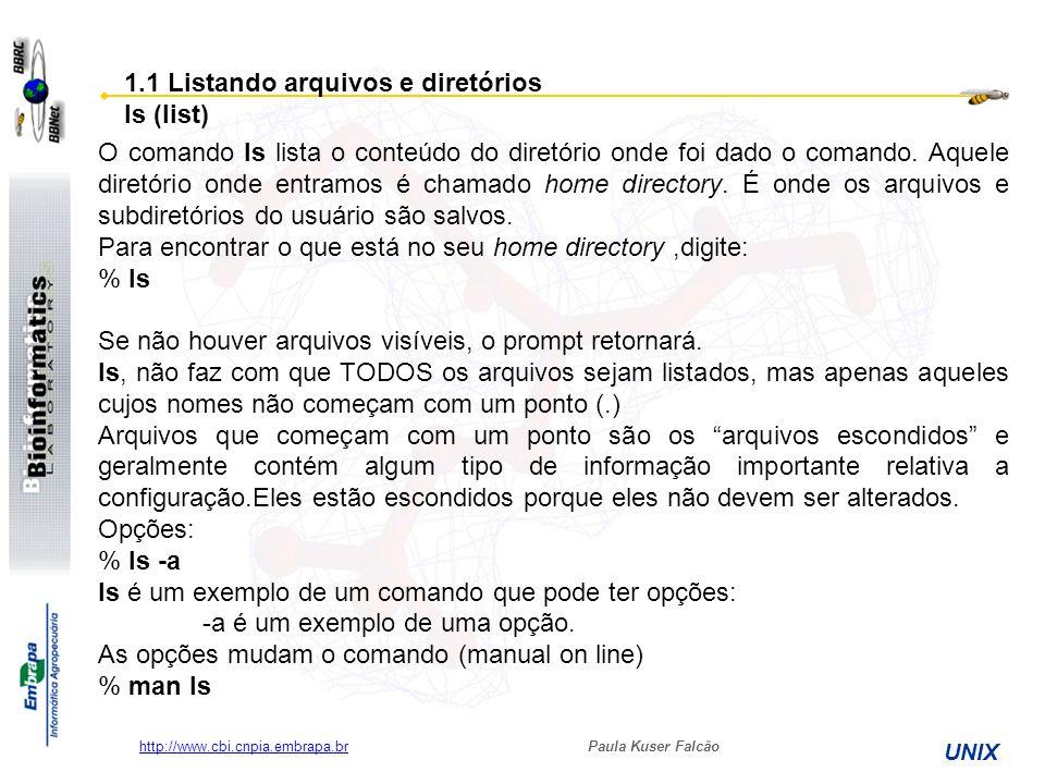 1.1 Listando arquivos e diretórios ls (list)