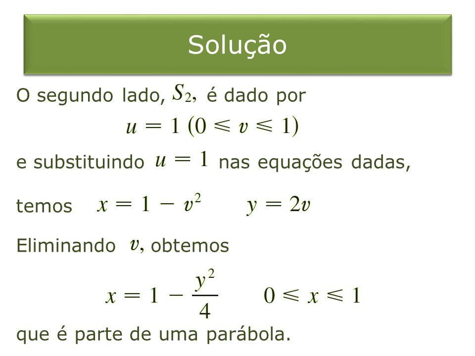 Solução O segundo lado, é dado por e substituindo nas equações dadas,