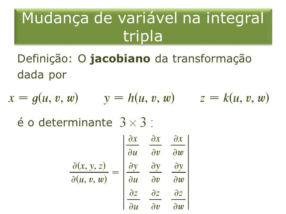 Mudança de variável na integral tripla