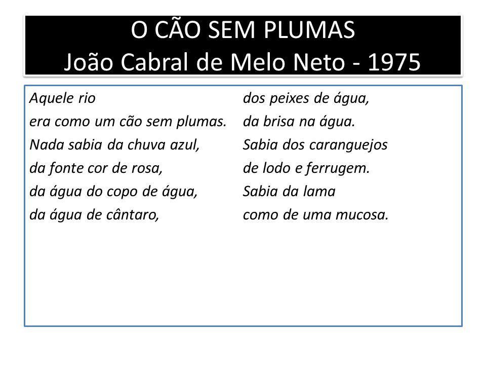 O CÃO SEM PLUMAS João Cabral de Melo Neto - 1975