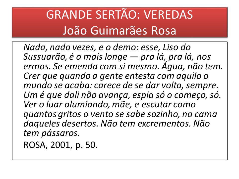 GRANDE SERTÃO: VEREDAS João Guimarães Rosa