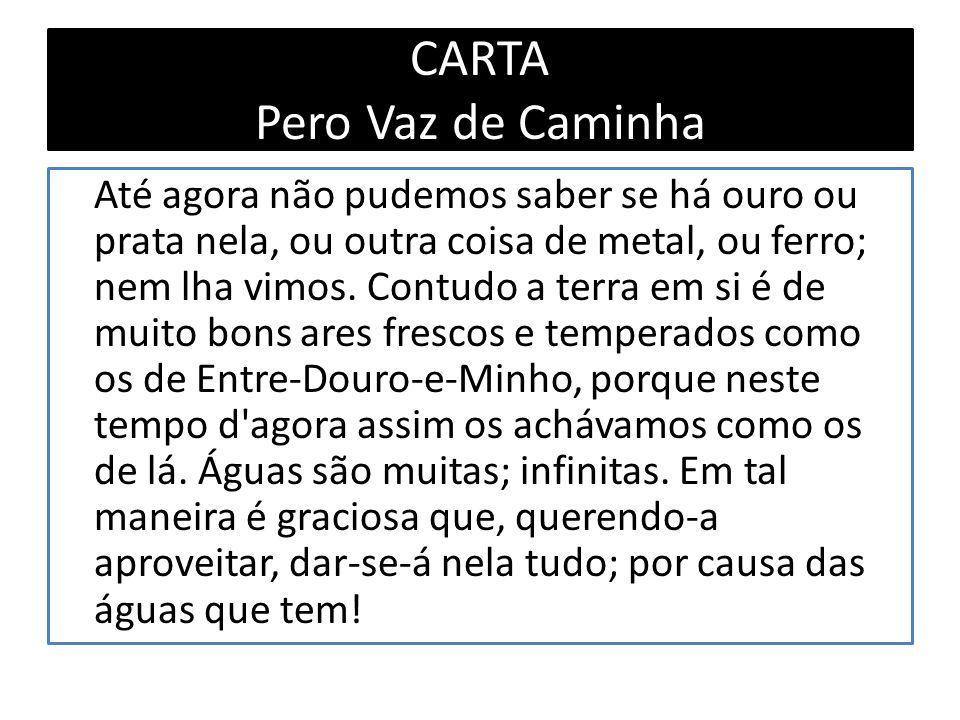 CARTA Pero Vaz de Caminha