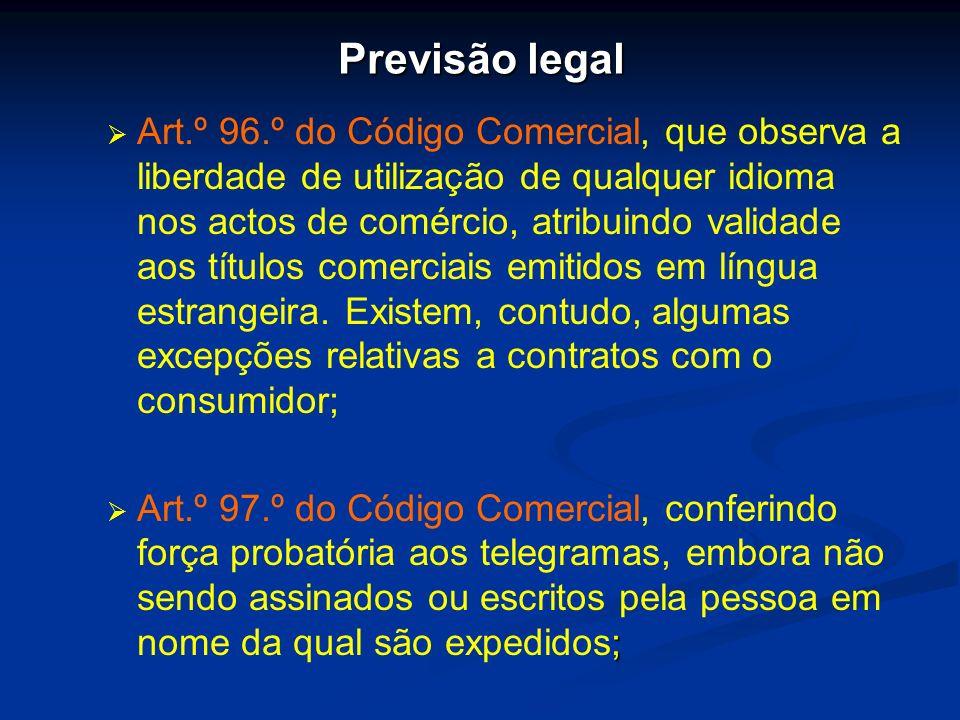 Previsão legal