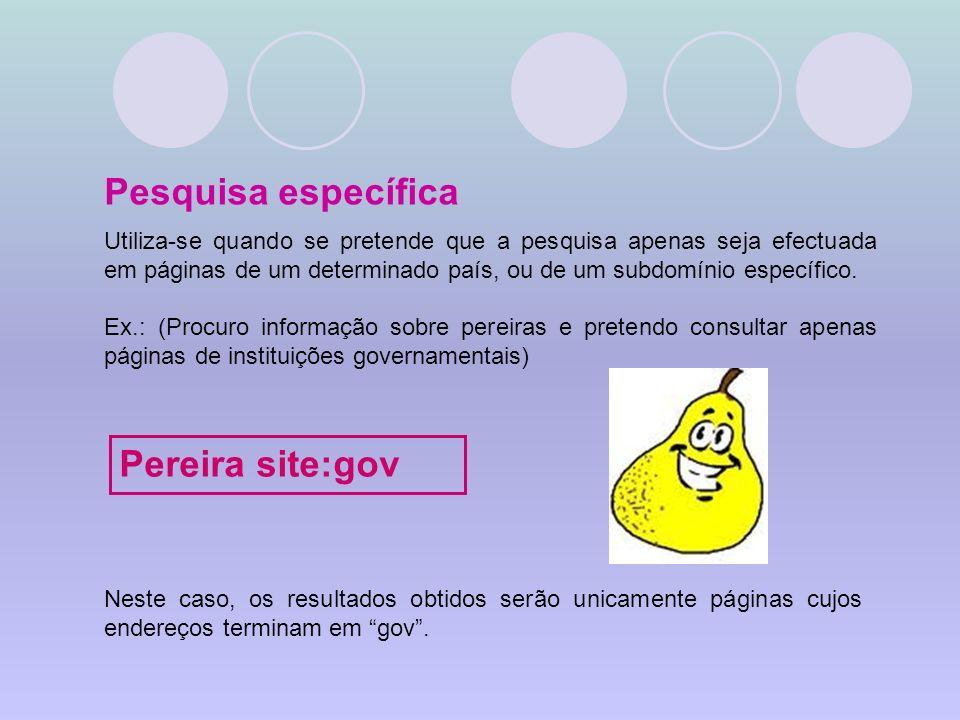Pesquisa específica Pereira site:gov