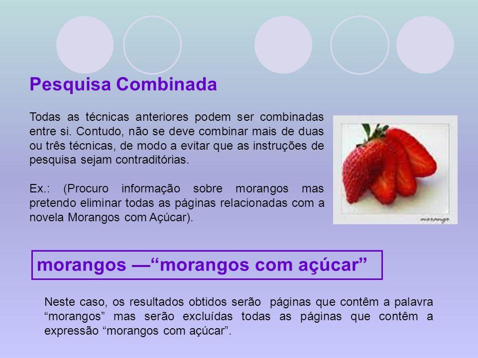 morangos — morangos com açúcar