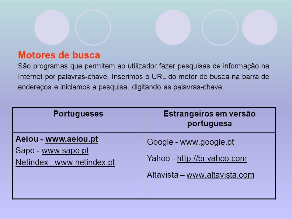 Estrangeiros em versão portuguesa