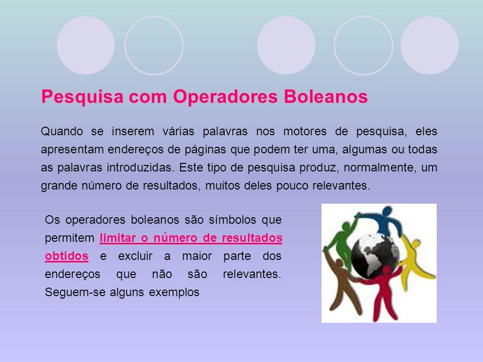 Pesquisa com Operadores Boleanos