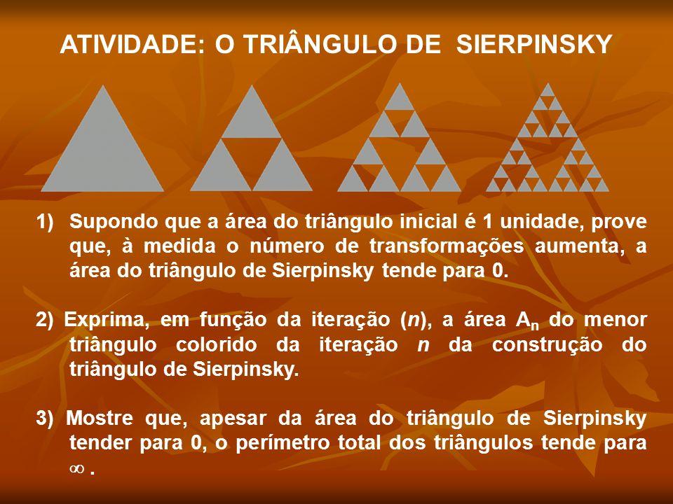 ATIVIDADE: O TRIÂNGULO DE SIERPINSKY