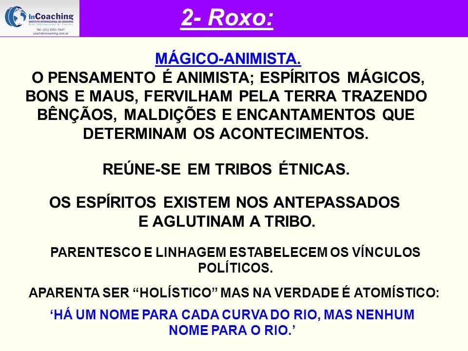 2- Roxo: MÁGICO-ANIMISTA.