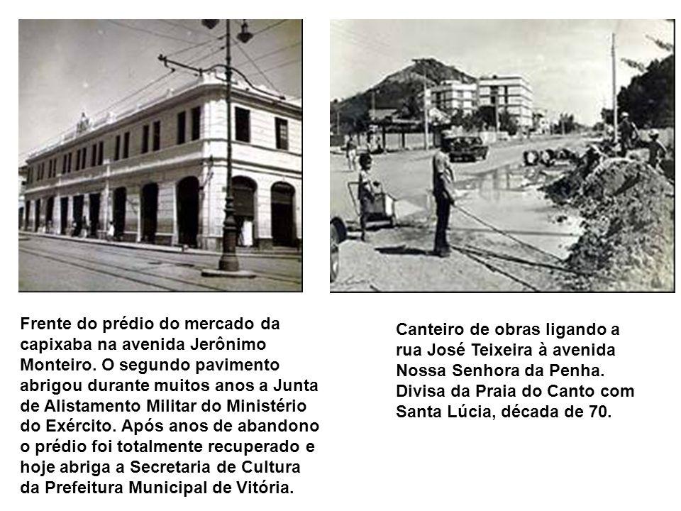 Frente do prédio do mercado da capixaba na avenida Jerônimo Monteiro