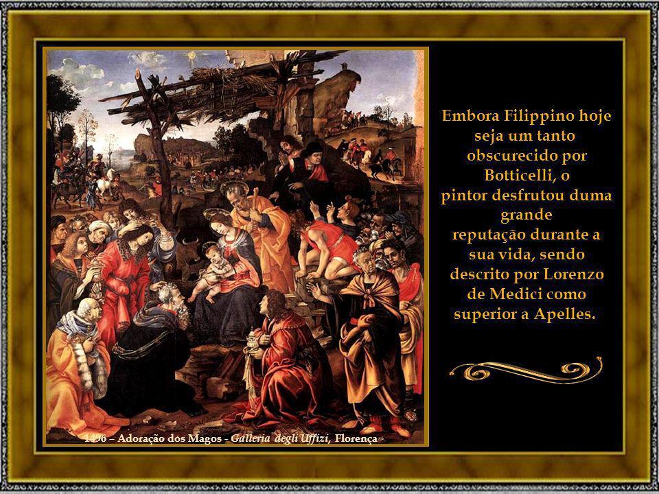 1496 – Adoração dos Magos - Galleria degli Uffizi, Florença