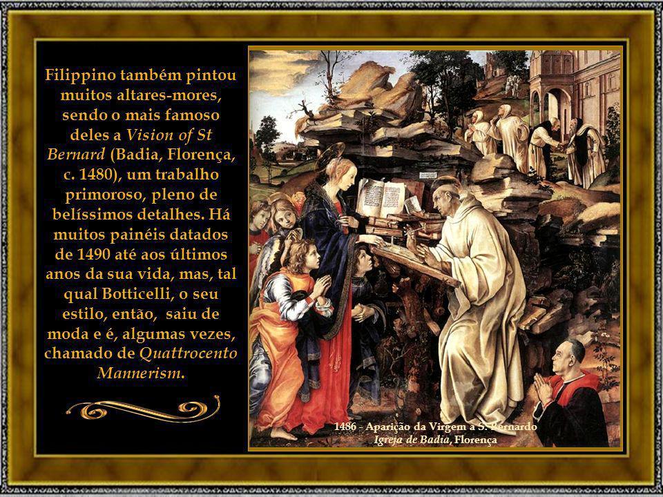 1486 - Aparição da Virgem a S. Bernardo Igreja de Badia, Florença