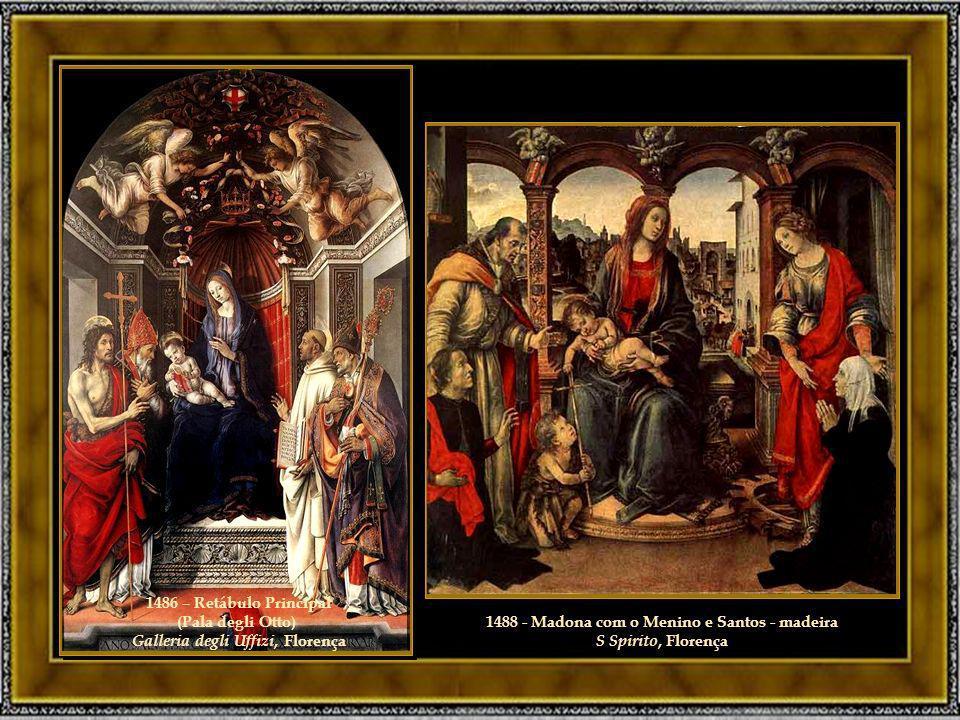 1488 - Madona com o Menino e Santos - madeira S Spirito, Florença