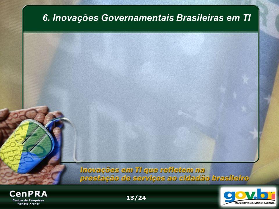 6. Inovações Governamentais Brasileiras em TI