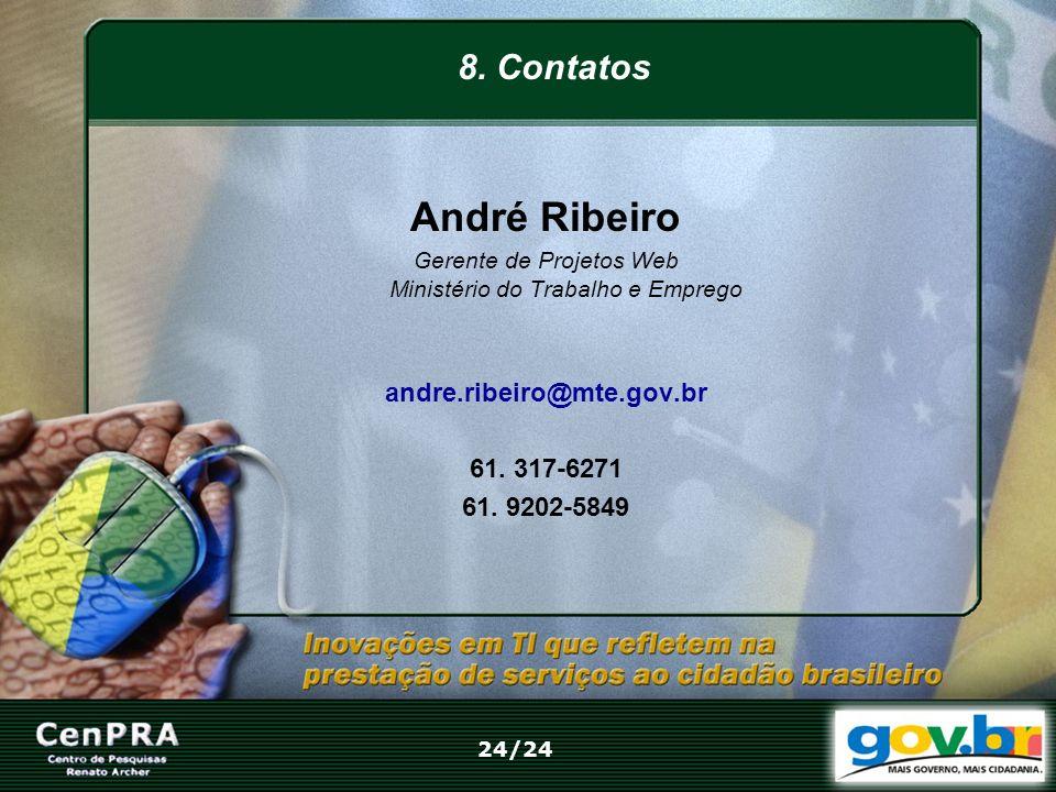 Gerente de Projetos Web Ministério do Trabalho e Emprego
