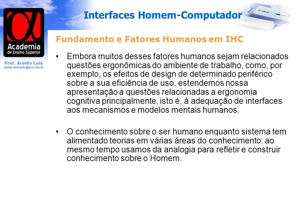 Fundamento e Fatores Humanos em IHC