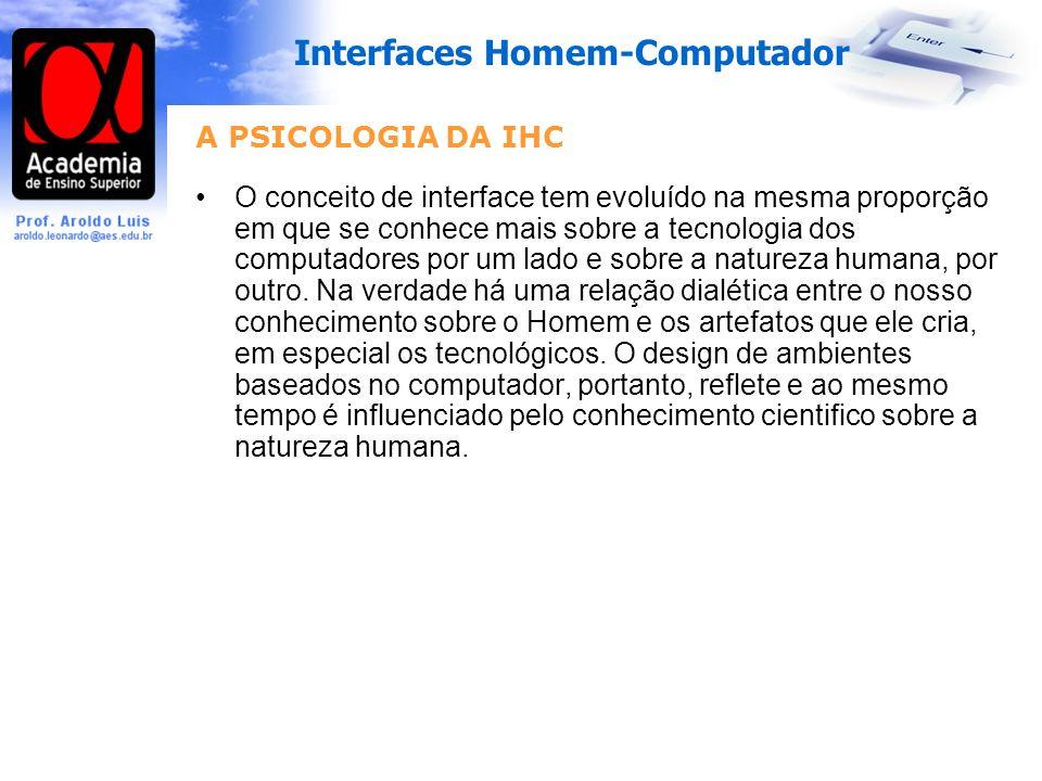 A PSICOLOGIA DA IHC