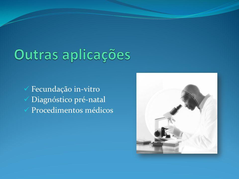 Outras aplicações Fecundação in-vitro Diagnóstico pré-natal