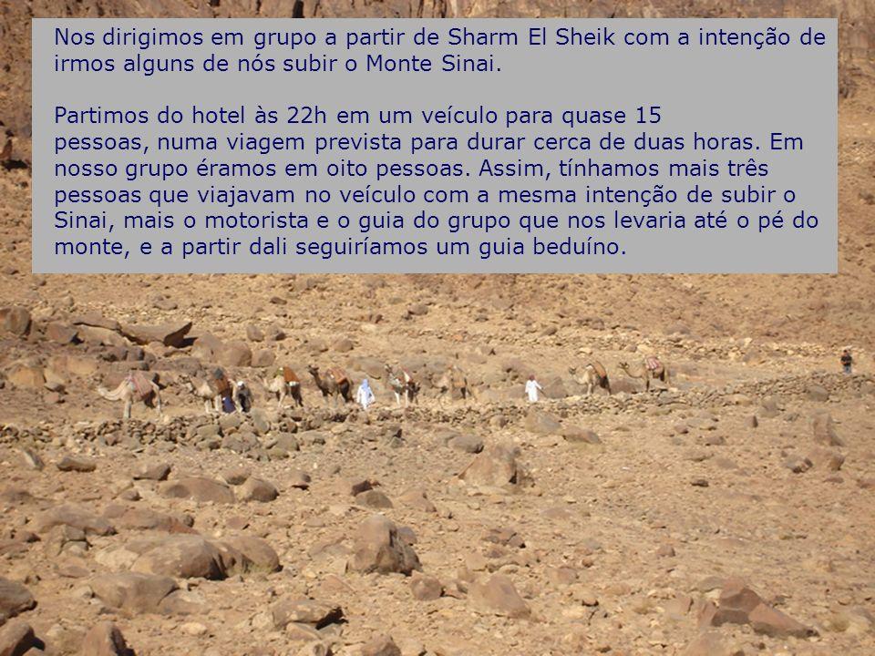 Nos dirigimos em grupo a partir de Sharm El Sheik com a intenção de irmos alguns de nós subir o Monte Sinai.