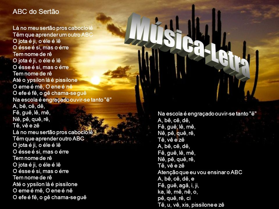 Música-Letra ABC do Sertão