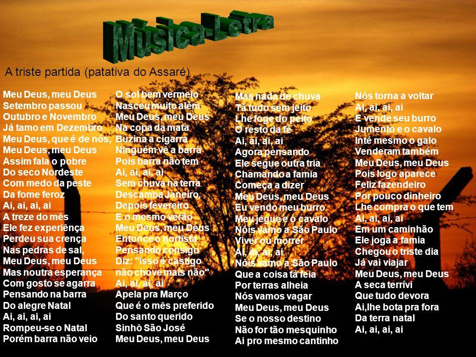 Música-Letra A triste partida (patativa do Assaré)