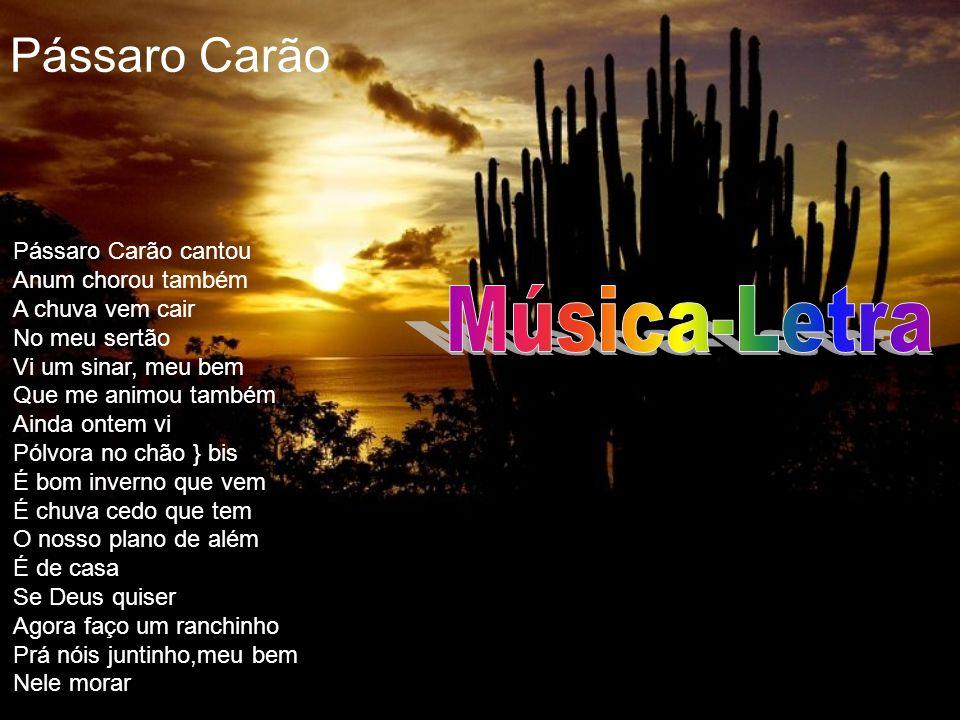 Pássaro Carão Música-Letra Pássaro Carão cantou Anum chorou também