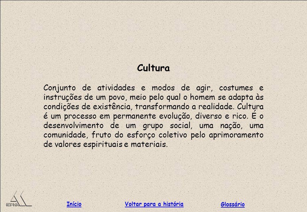 Cultura Início Voltar para a história Glossário