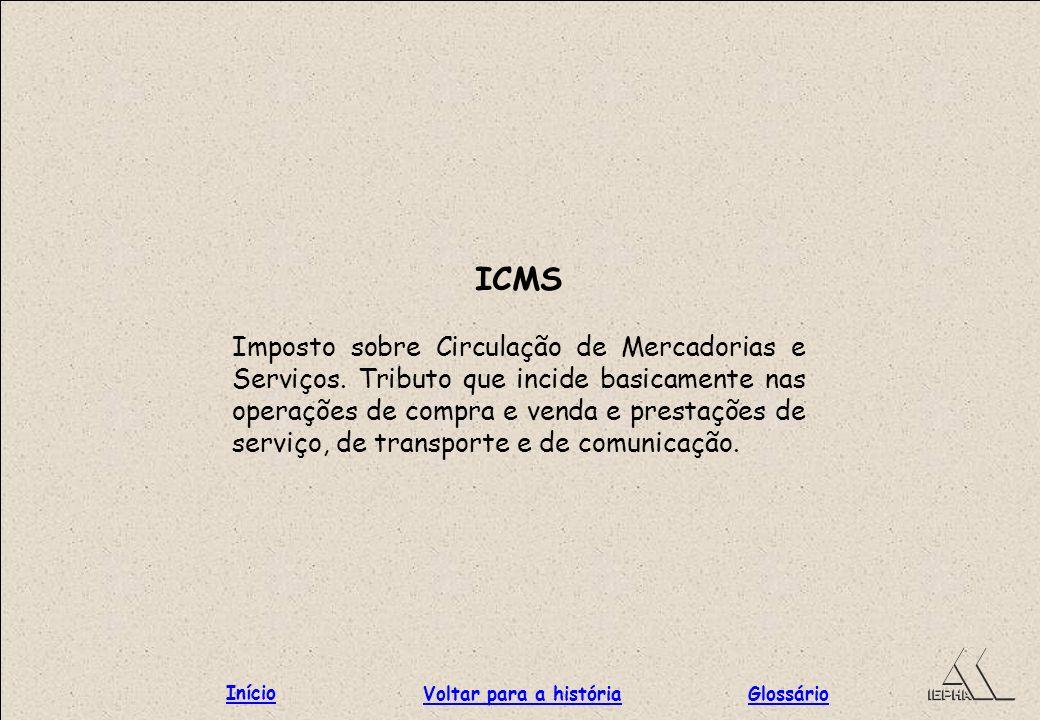 ICMS Início Voltar para a história Glossário