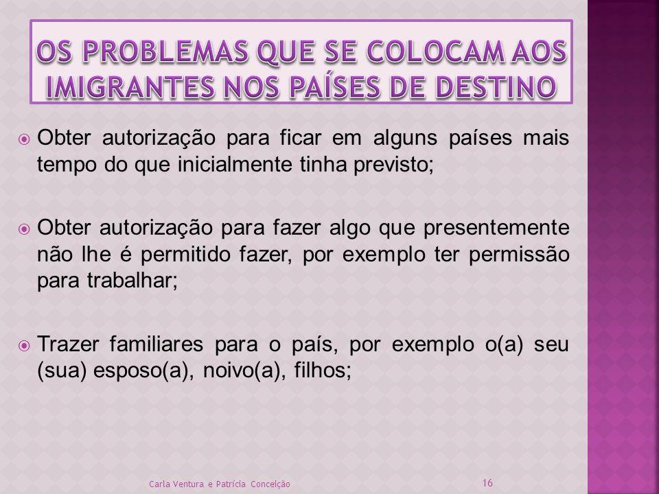 OS PROBLEMAS QUE SE COLOCAM AOS IMIGRANTES NOS PAÍSES DE DESTINO
