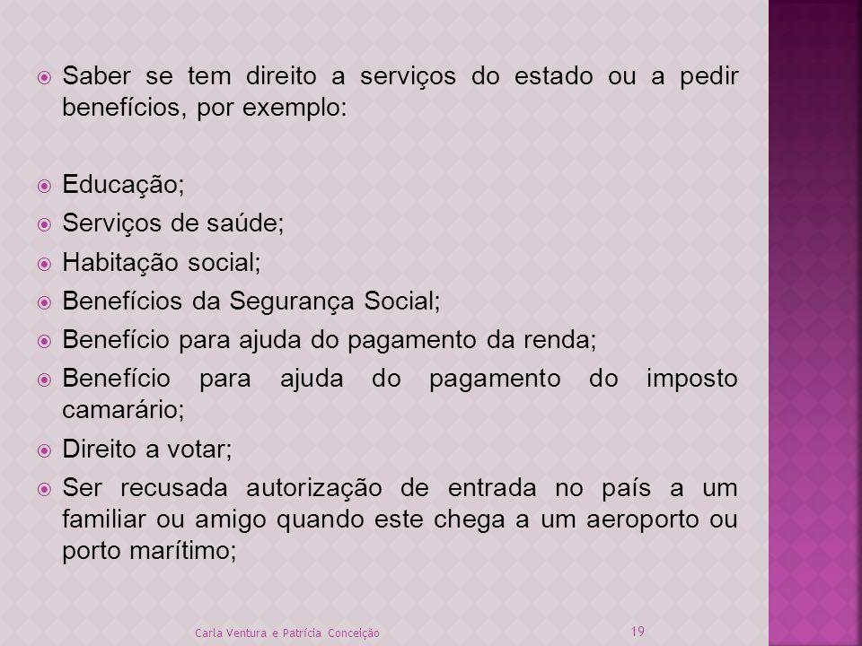 Benefícios da Segurança Social;