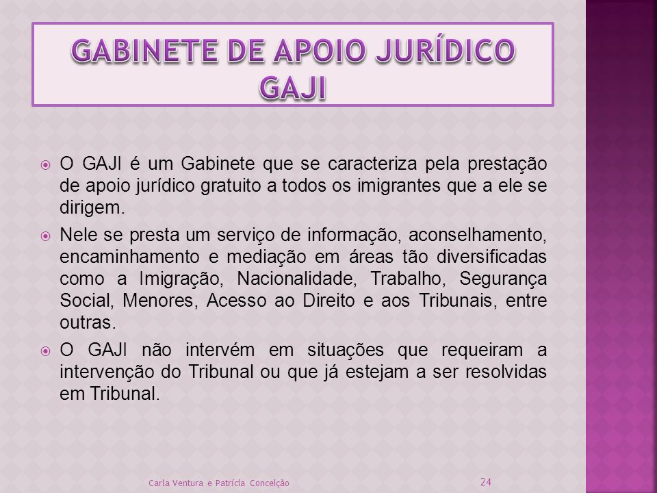 GABINETE DE APOIO JURÍDICO GAJI